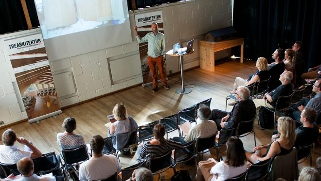 Den 2. nasjonale konferansen for trearkitektur i 2014.Foto: Knut Werner Lindeberg Alsén.
